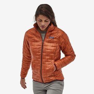 Patagonia women's micro puff jacket sunset orange